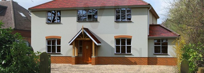 New build house redevelopment, Wokingham, Berkshire