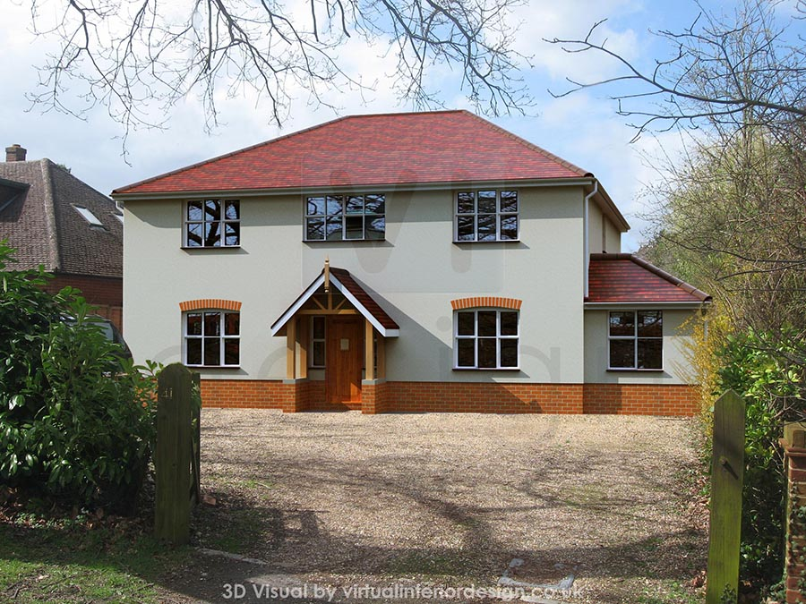 Front View of House Development, Wokingham, Berks