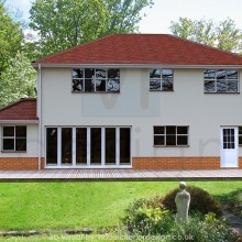 Rear View of House Development, Wokingham, Berks