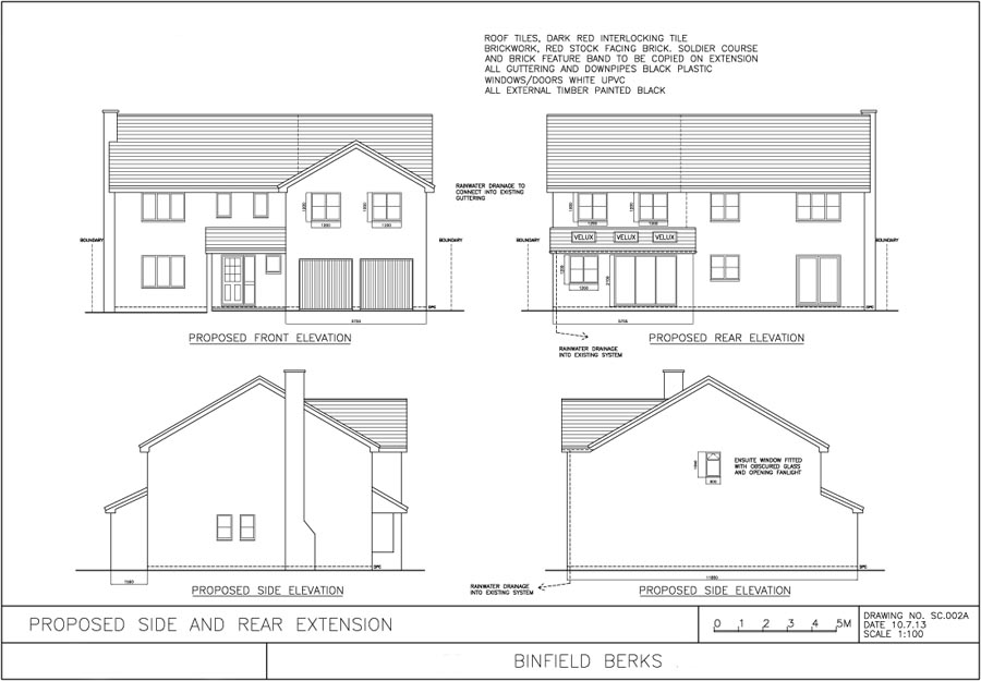 Approved plans for Binfield property extension, elevations