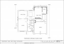 Approved plans for Binfield property extension, ground floor