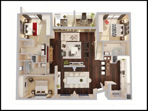 Interior Design Floor Plan 3d floor plans for interior design schemes and layouts. homes