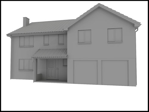 plain greyscale unmapped house