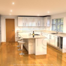 Contemporary White Gloss Kitchen Interior, Berkshire